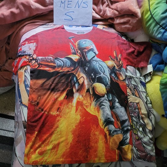 Mens S Star Wars Boba Fett Graphic Tee NWD Defect